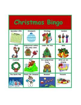 """WH"" Christmas Bingo"