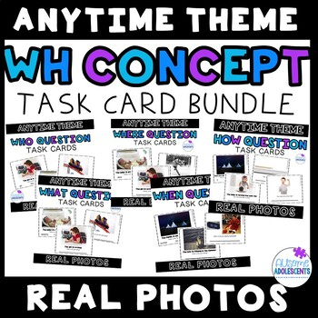 WH Concept REAL PHOTO Task Card BUNDLE