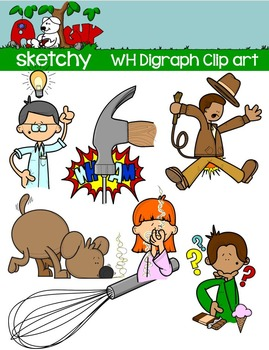 Digraphs WH / Word Families Clip art