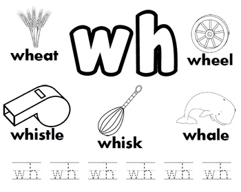WH Digraph Worksheets!