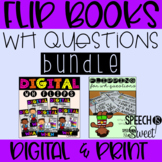 WH Questions Flip Books Bundle for Speech Therapy (Printed