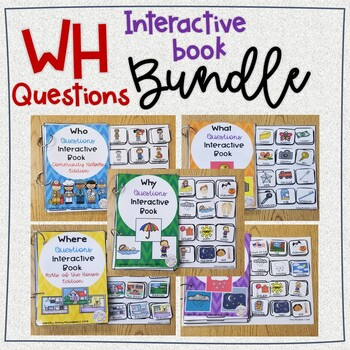 WH-Questions Interactive Book BUNDLE