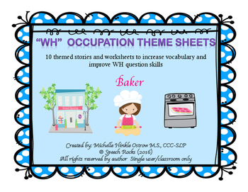 WH Occupation Theme Sheets - Set 1