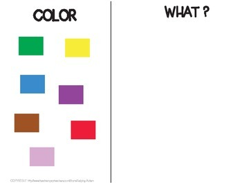 WH QUESTION COLOR/SHAPE AND THINGS AUTISM ABA LEVEL 1