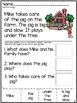 WH QUESTIONS Comprehension Worksheet Set (CUT/PASTE)