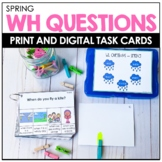 WH QUESTIONS - Spring Speech Therapy BOOM Cards™️