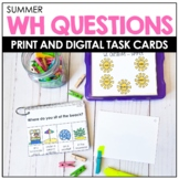 WH QUESTIONS - Summer Speech Therapy BOOM Cards™️