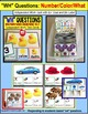 """WH QUESTIONS Task Cards HOW MANY/COLOR/WHAT IS IT """"Task Box Filler"""" for Autism"""