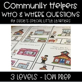 COMMUNITY HELPERS WH QUESTIONS FOR AUTISM SPECIAL ED AND ELL ESL