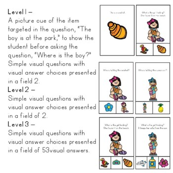 SUMMER WH QUESTIONS WITH VISUAL ANSWERS FOR AUTISM SPECIAL ED