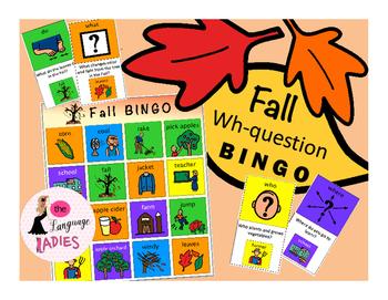 WH-Question BINGO: FALL