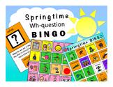 WH-Question BINGO: Springtime