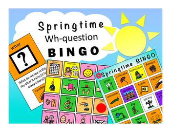 WH-Question BINGO: Springtime