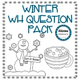 Winter WH Question Activity BUNDLE