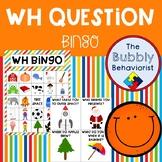 WH Question Bingo
