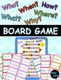 WH Question Board Game - Who, What, When, Why, Where, How