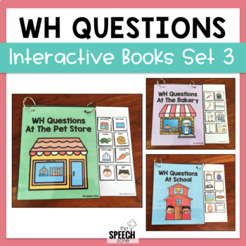 Interactive WH Question Book Set 3