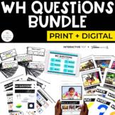 WH Question Bundle for Special Education