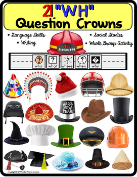 WH Question CROWNS for Autism and Special Education and La