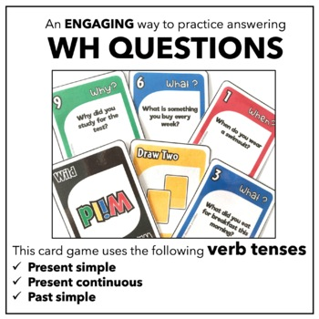 WH Question Card Game - What, When, Where & Why