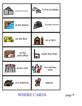 WH Question Cards ~ Comprehension matching activity ~ Freebie