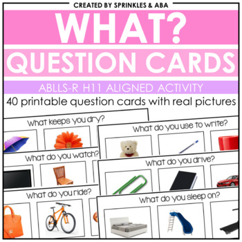 WH Question Cards - What