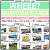 WH Question Cards - Where