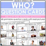 WH Question Cards - Who