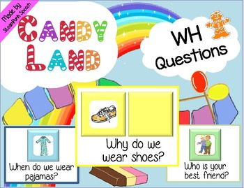 WH-Question Cards for CANDY LAND Boards  *NEW*