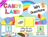 Speech Therapy WH Questions Candy Land cards