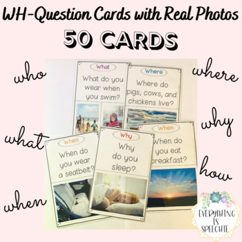 WH-Question Cards with Real Photos