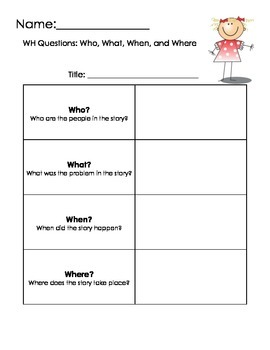 WH Question Chart