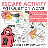 WH Question Escape Activity for ELL, EFL, ESL / Question W