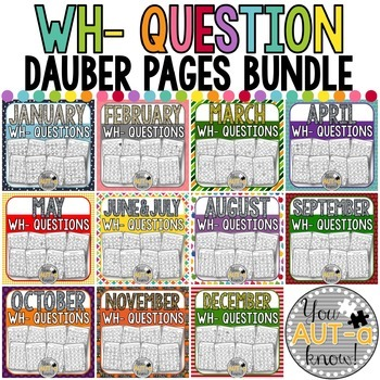 WH- Question Dauber Pages THE BUNDLE