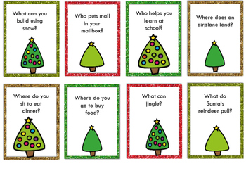 WH Question Game - Christmas Theme