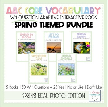 WH Question Interactive and Adaptive Books - SPRING