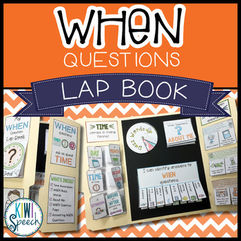 WH Question Language Lap Book - WHEN Questions