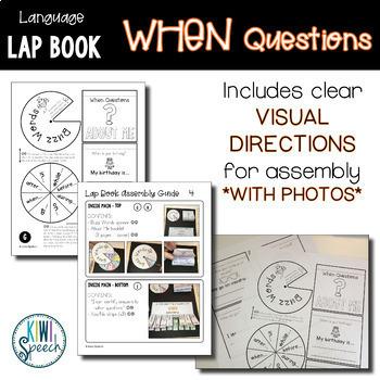 WH Question Language Lap Book - WHEN Questions
