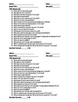 """WH"" Question List"