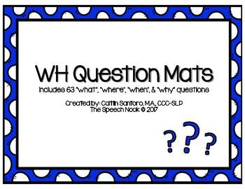 WH Question Mats