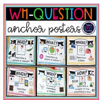 Wh-Question Anchor Posters for Special Education