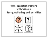 WH- Question Posters/Work Task for Special Education