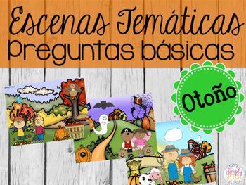 WH-Question Scenes for Fall: Spanish Edition