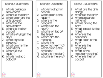 WH-Question Scenes for Winter