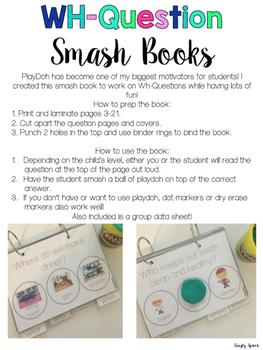 WH-Question Smash Books!