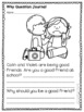 WH Question Social Skills Journal Comprehension Stories PK-2 #warmupwithsped3