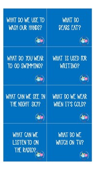 WH- Question Spinner Game