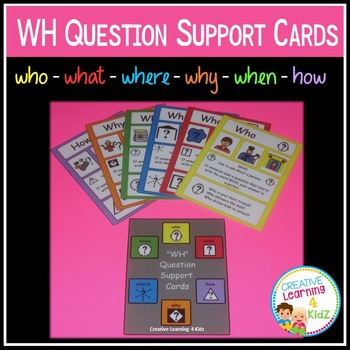 WH Question Support Cards