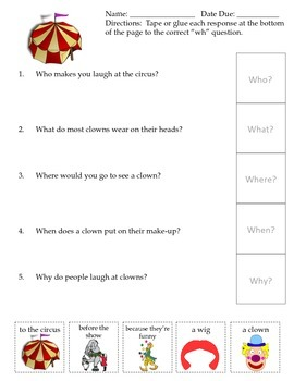 WH Question Theme Sheets ~ Freebie