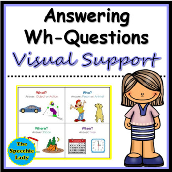 wh question visual support by it s fun to be an slp tpt